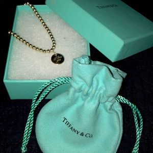 Tiffany & Co. Silver Bead I Love You Bracelet